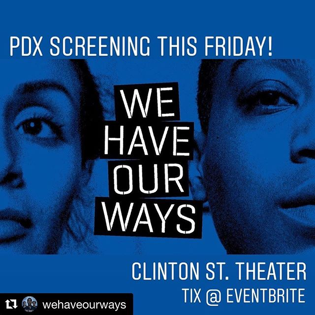 #Repost @wehaveourways with @get_repost ・・・ Portland screening this Friday! WHOW is screening with two other short films about reproductive rights. My Body, My Choice: Learn How to Fight Back! will feature WE HAVE OUR WAYS, JANE: AN ABORTION SERVICE, and A GIRL LIKE HER at the Clinton Street Theater. Following the panel, there will be a Q&A with Elona Wilson, Ana del Rocío (of WHOW!), Judith Arcana (of JANE!), and Lani Jo Leigh. Tickets available via Eventbrite ($10 in advance, $15 at the door). Proceeds benefit Planned Parenthood. Friday, Aug. 16 at the Clinton St. Theater. Doors at 6:30pm.