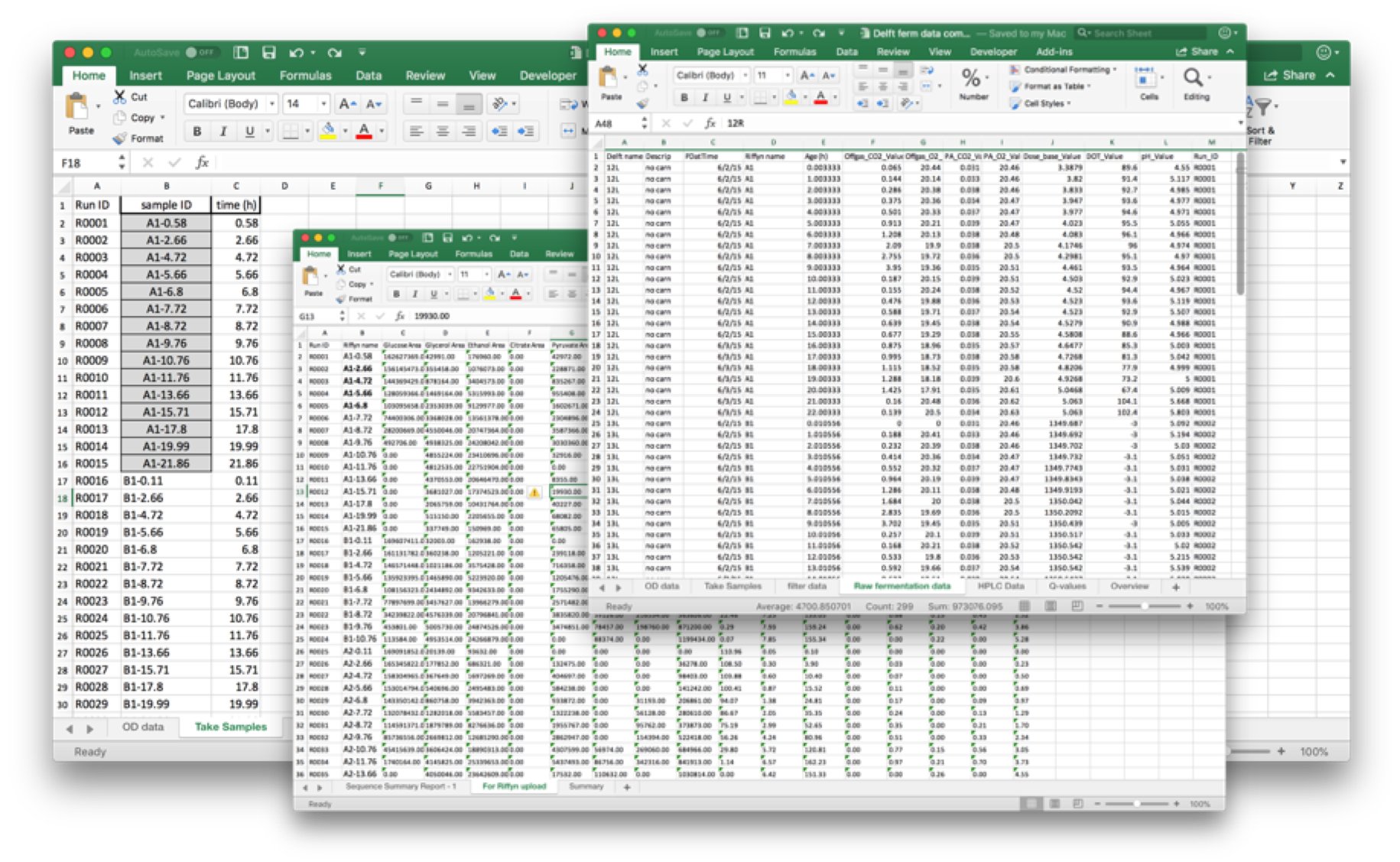Experimental data is often kept in siloed spreadsheets and databases.