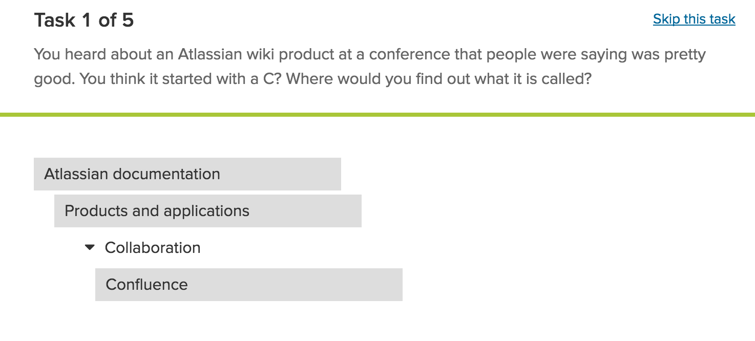 Example of what survey candidates see - Image from from a dummy survey.