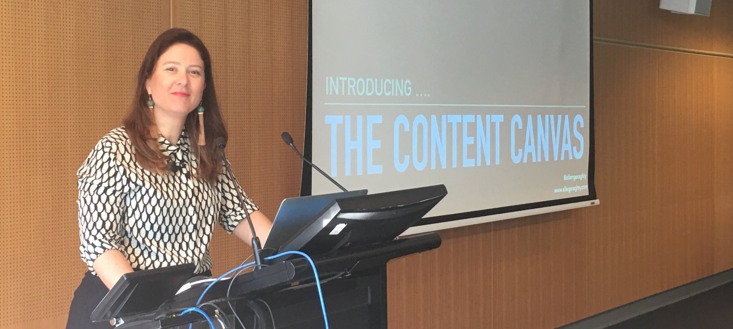 I first presented on the content canvas at CSFOrum16 in Melbourne in October 2016