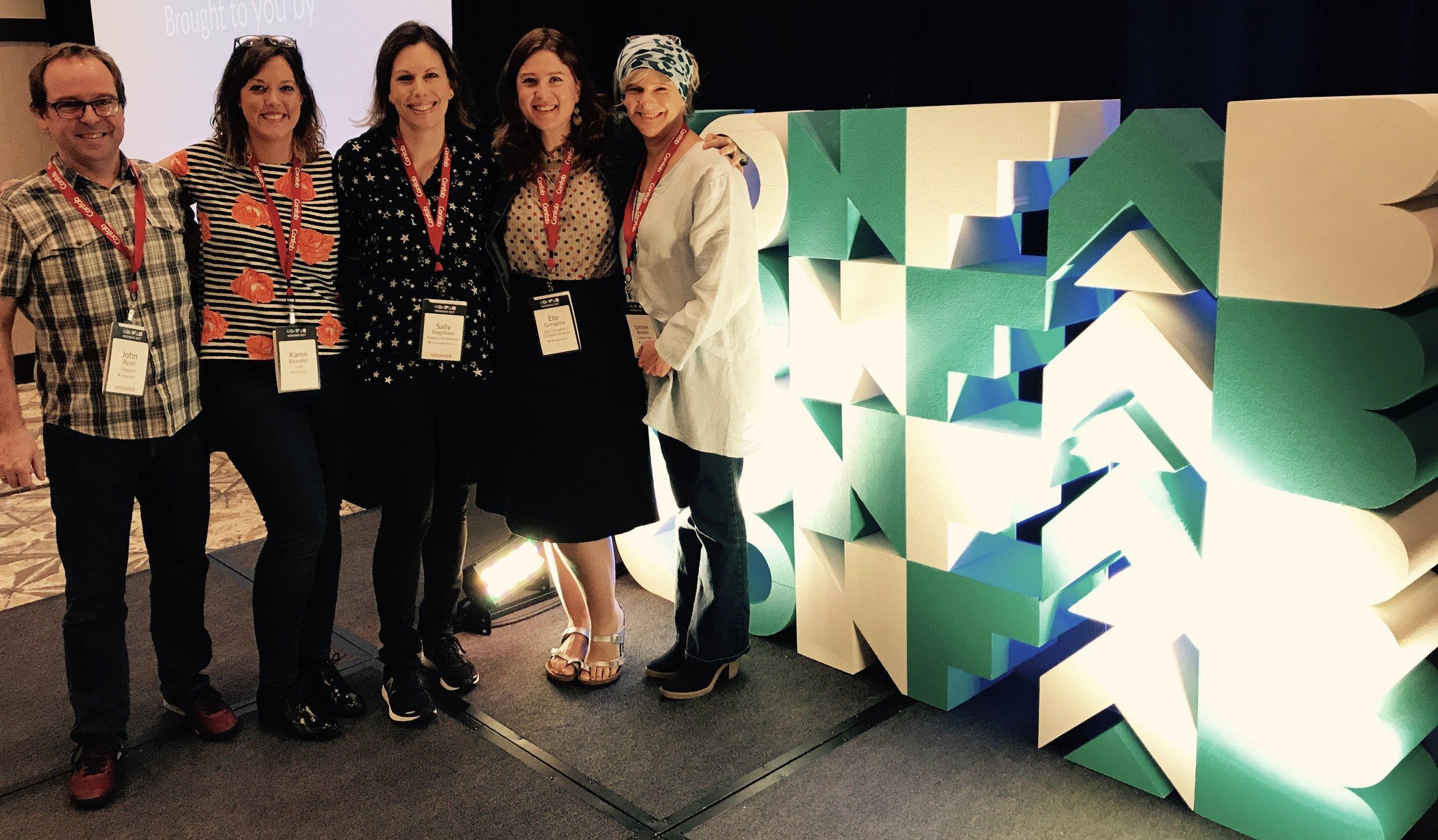 The Australians - John, Karen, Sally, Elle and Lenni