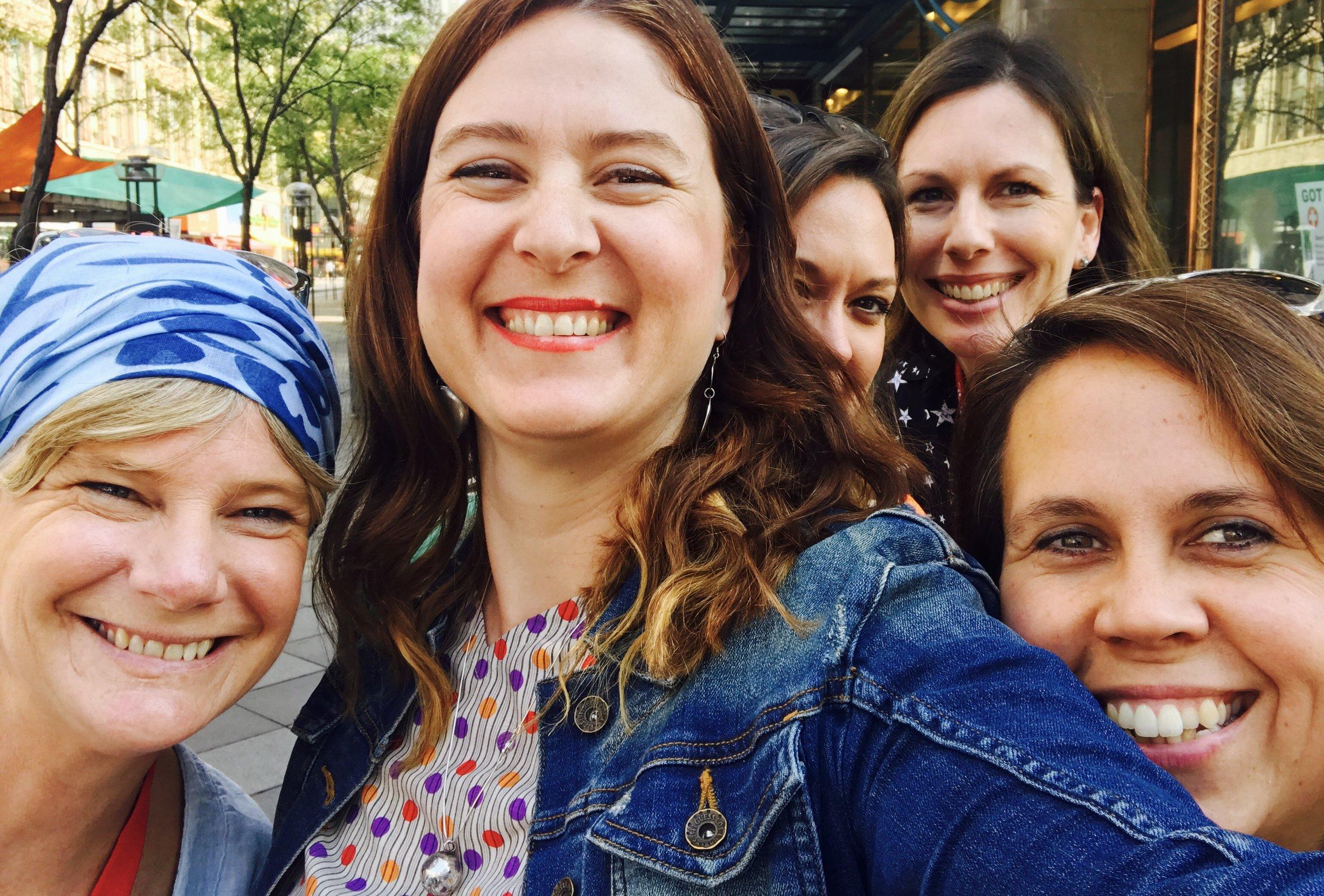 Intrepid research field team - Lenni, Elle, Karen, Sally and Mel