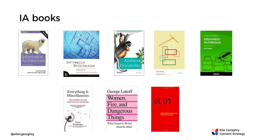 Books_on _information_architecture_Elle_Geraghty_content_strategy