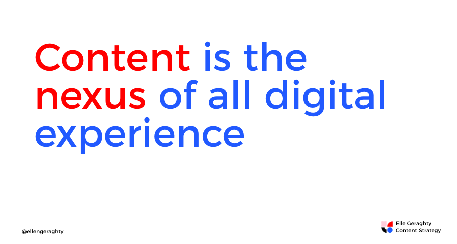Content is the nexus of all digital experience Elle Geraghty.png