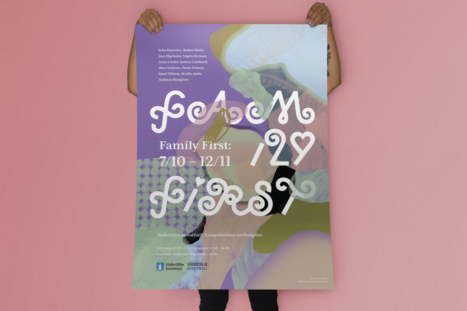 Family first : poster and invitations for the exhibition Family First, 2017