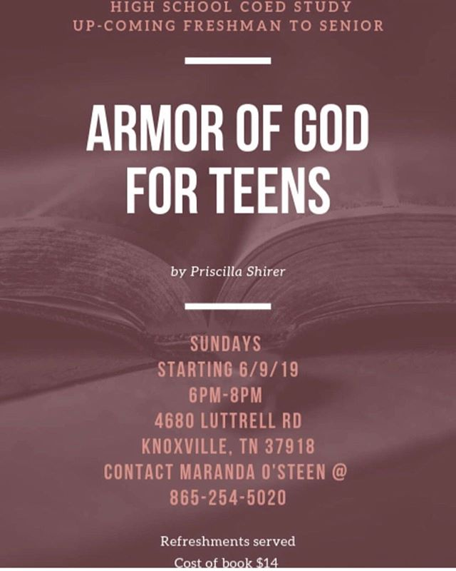 Help spread the word about an awesome Bible Study for High School students starting next Sunday! #BibleStudy @corrytonstudent @corrytonchurch