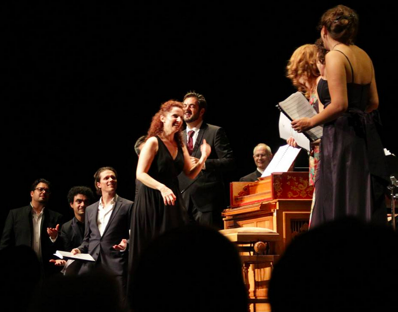On stage with Rolando Villazon and Emmanuelle Haim