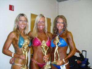 Me, Valerie and Marjorie at the NPC Sacramento Show