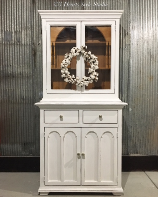 Farmhouse Shabby Chic Dining Room Hutch