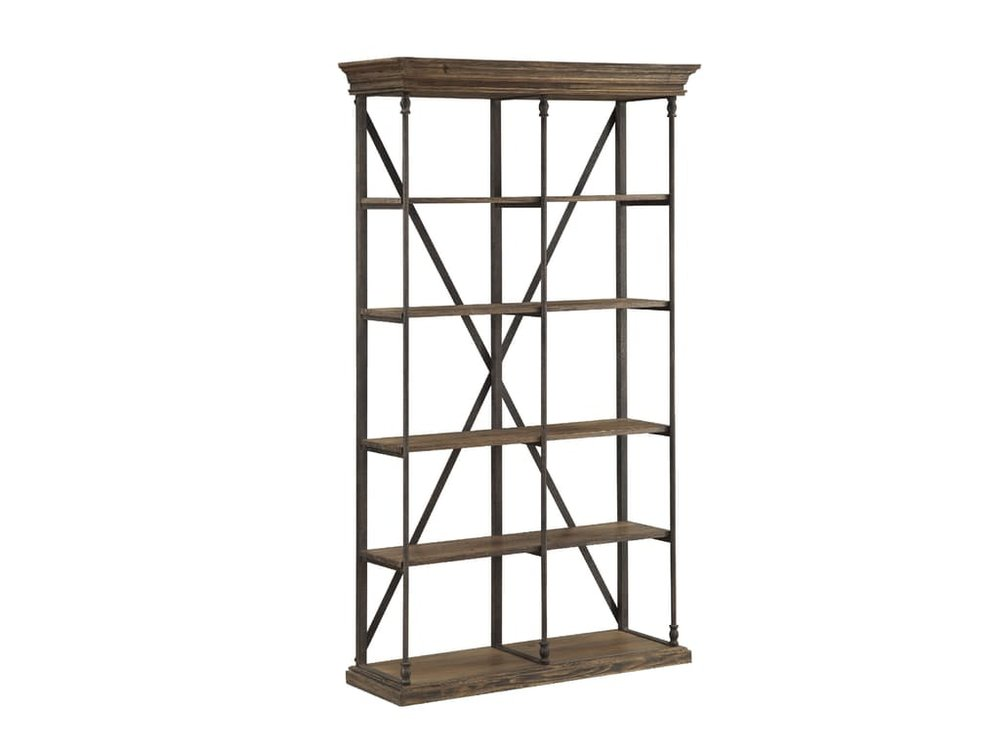 Rustic Iron & Wood Bookcase $699.99