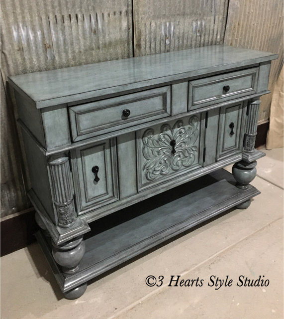 Blue Antique Buffet Rustic Farmhouse Furniture Denver Colorado
