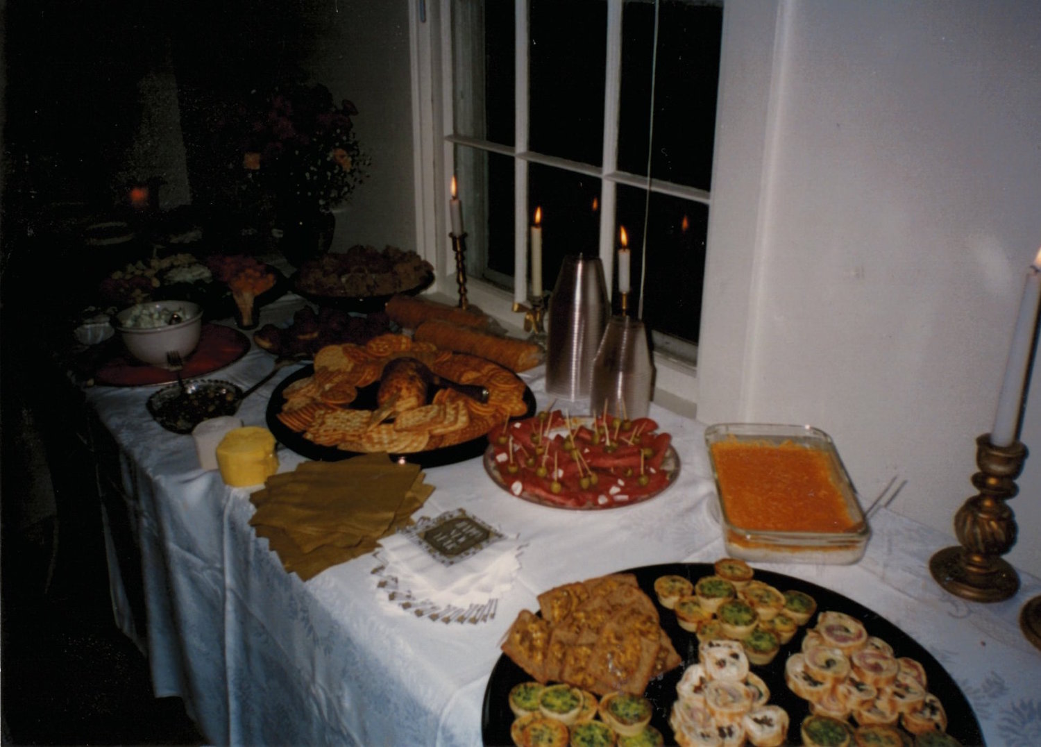 The  very first  event we catered ... the infamous New Year's Eve party 1996