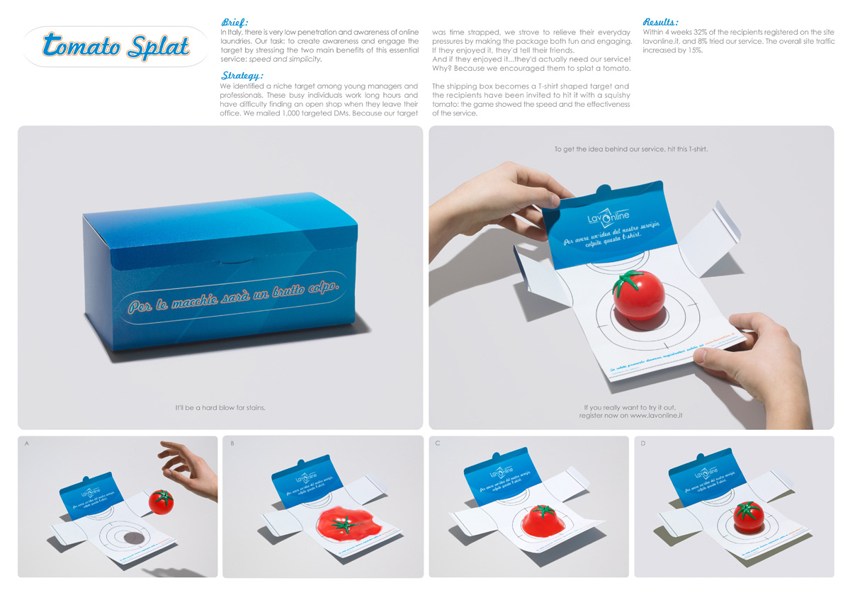 Advertising Agency:  DDB Group, Milan, Italy