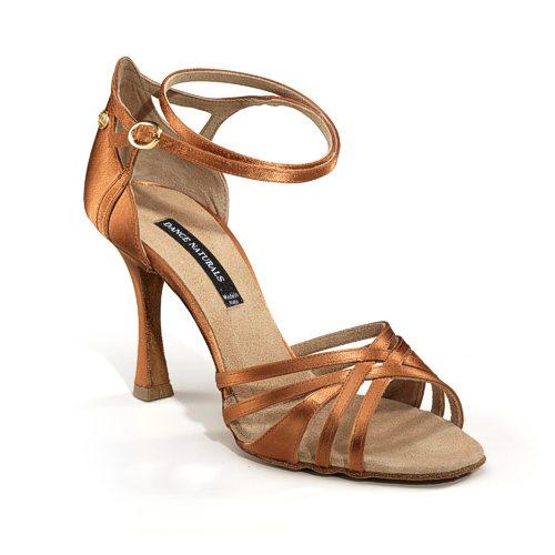 A typical ladies' Latin dance shoe (for Rumba, Cha Cha, Samba, Jive, and Paso Doble).