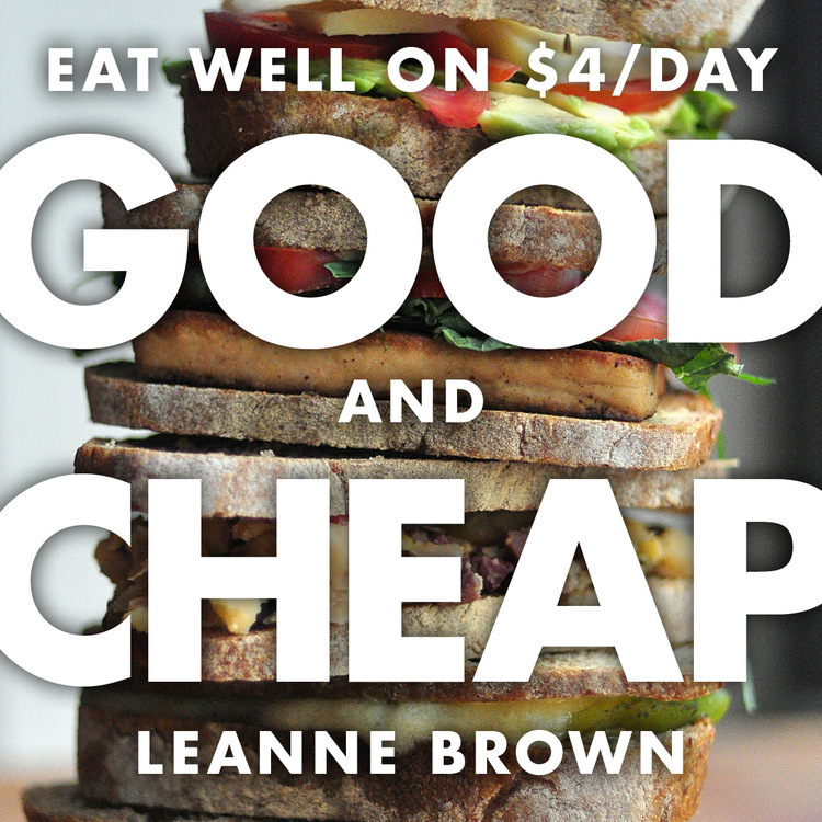 Good and Cheap  has recipes and tips for eating well on a limited budget.