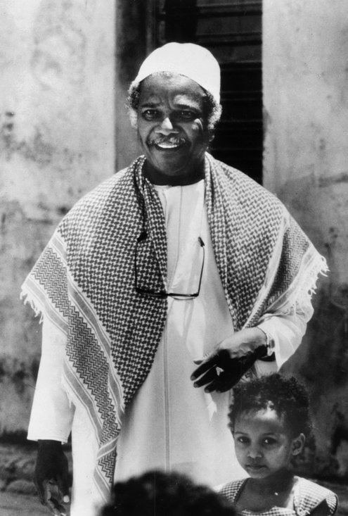 Photo taken in 1986 of Dr Ali Mazuri