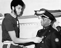 Kareem Abdul Jabbar along with his dad