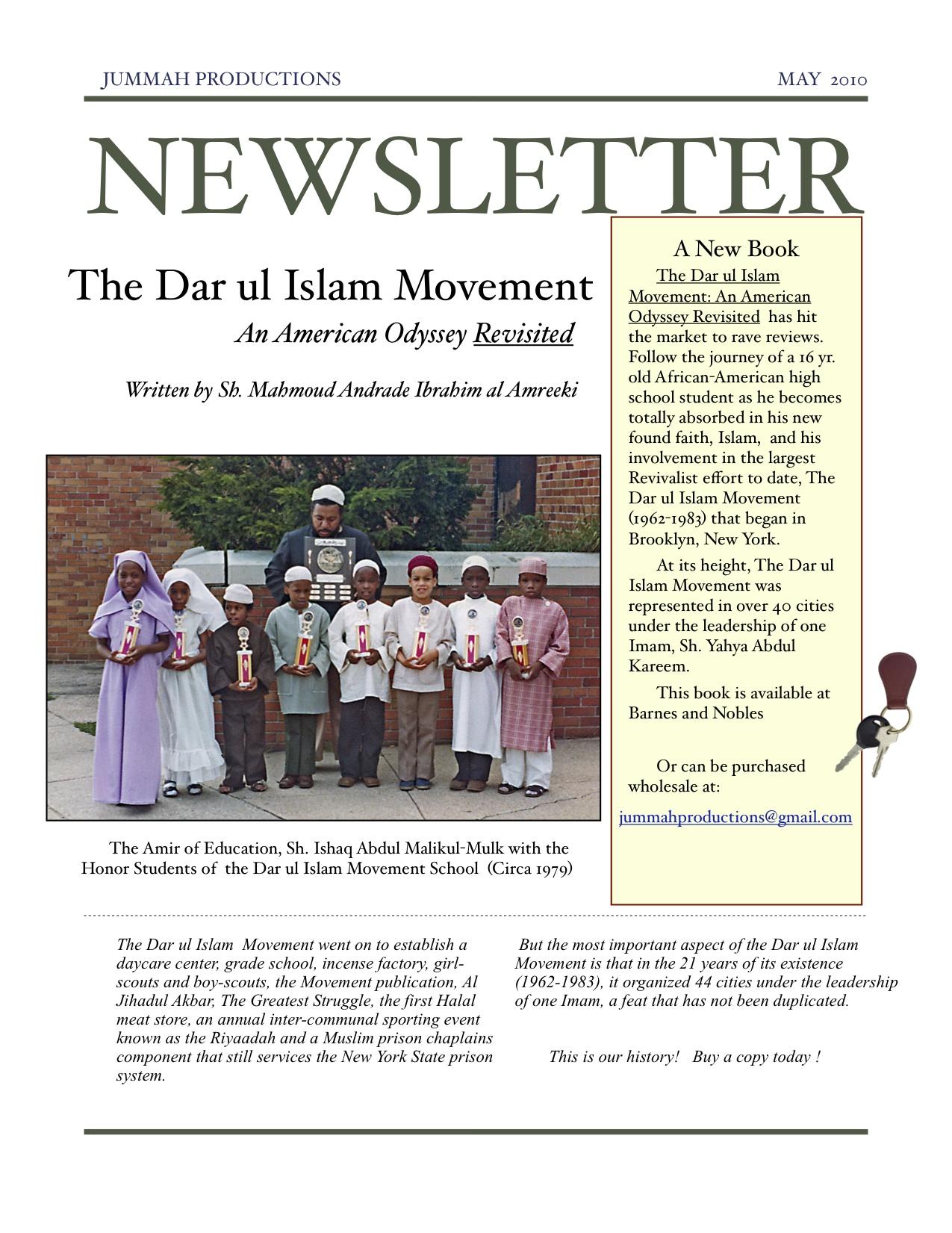 Dar ul Islam Newsletter