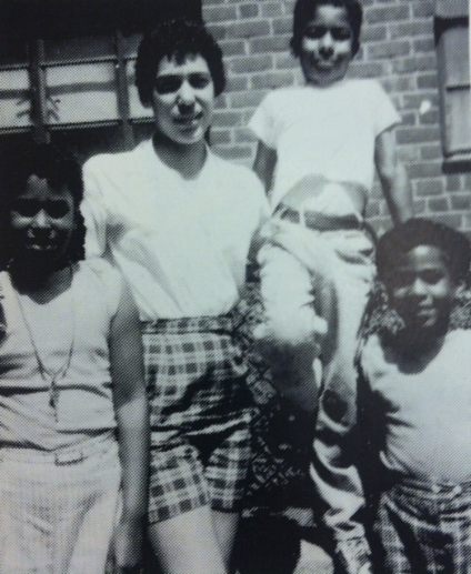(L to R) Big Sister Camille, cousin Carlotta, myself and my sister Renata circa. 1958 - 1959