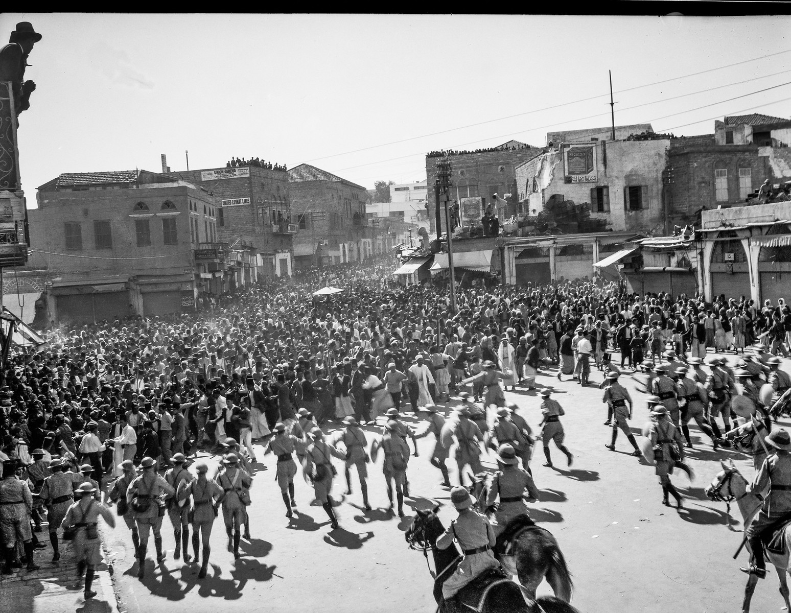 Arab protest delegations, demonstrations and strikes against British policy in Palestine in 1933