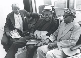 (l-r) John Henrik Clarke, Yusef Ben-Jochannan, Chancellor Williams