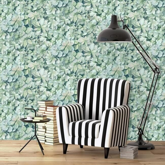 Rmk11192wp Hydrangea Bloom Peel Stick Wallpaper Jojo Design Studio