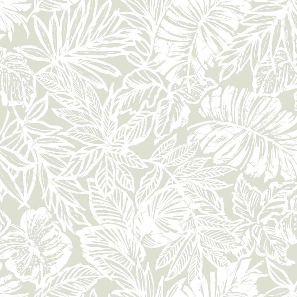 Rmk11435wp Batik Tropical Leaf Peel Stick Wallpaper Jojo Design Studio