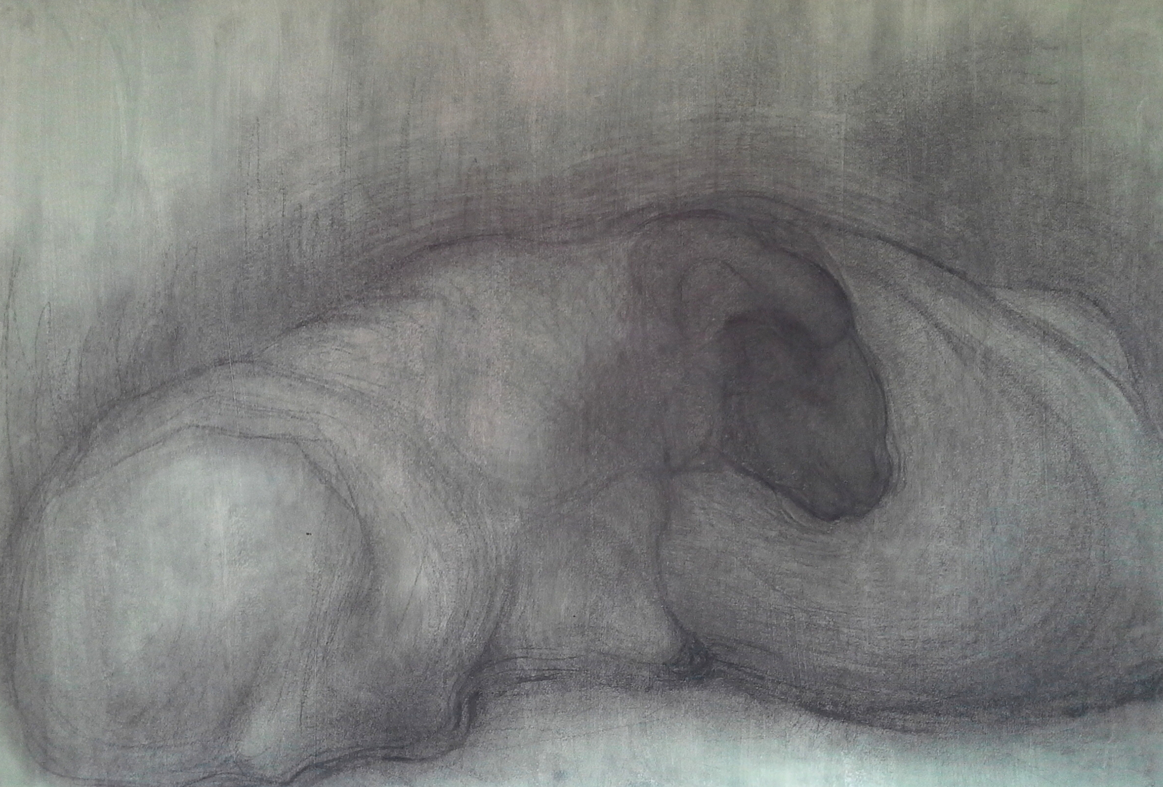 One of my drawings from life, Green sheep #2.