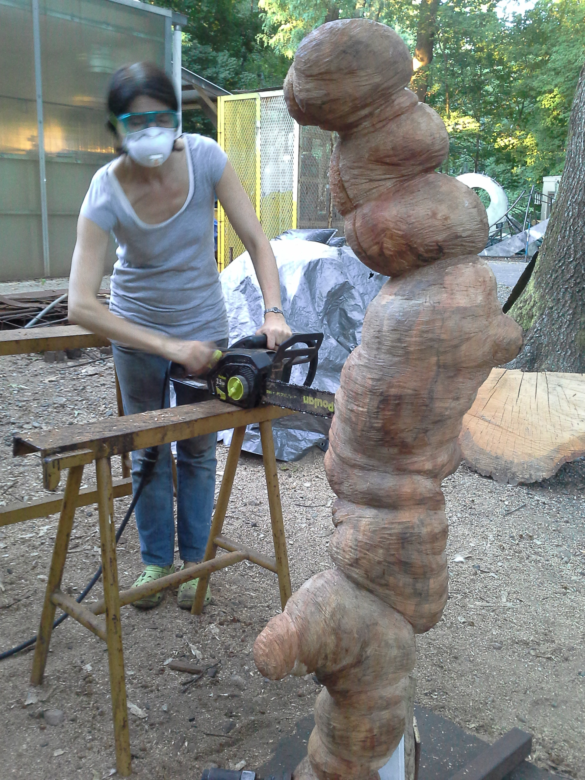 Chainsawing.