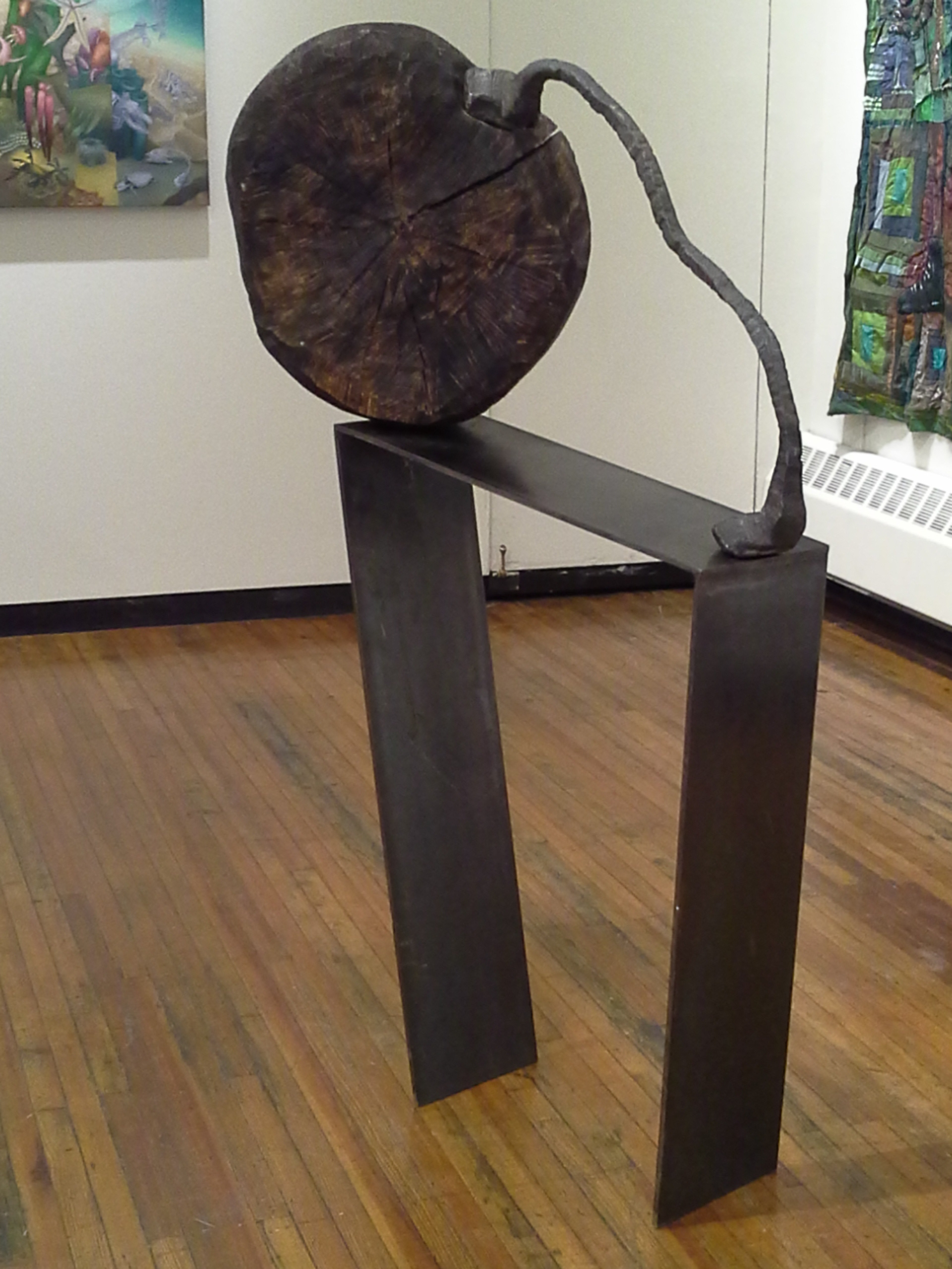 Sisyphus, Forged steel and wood.