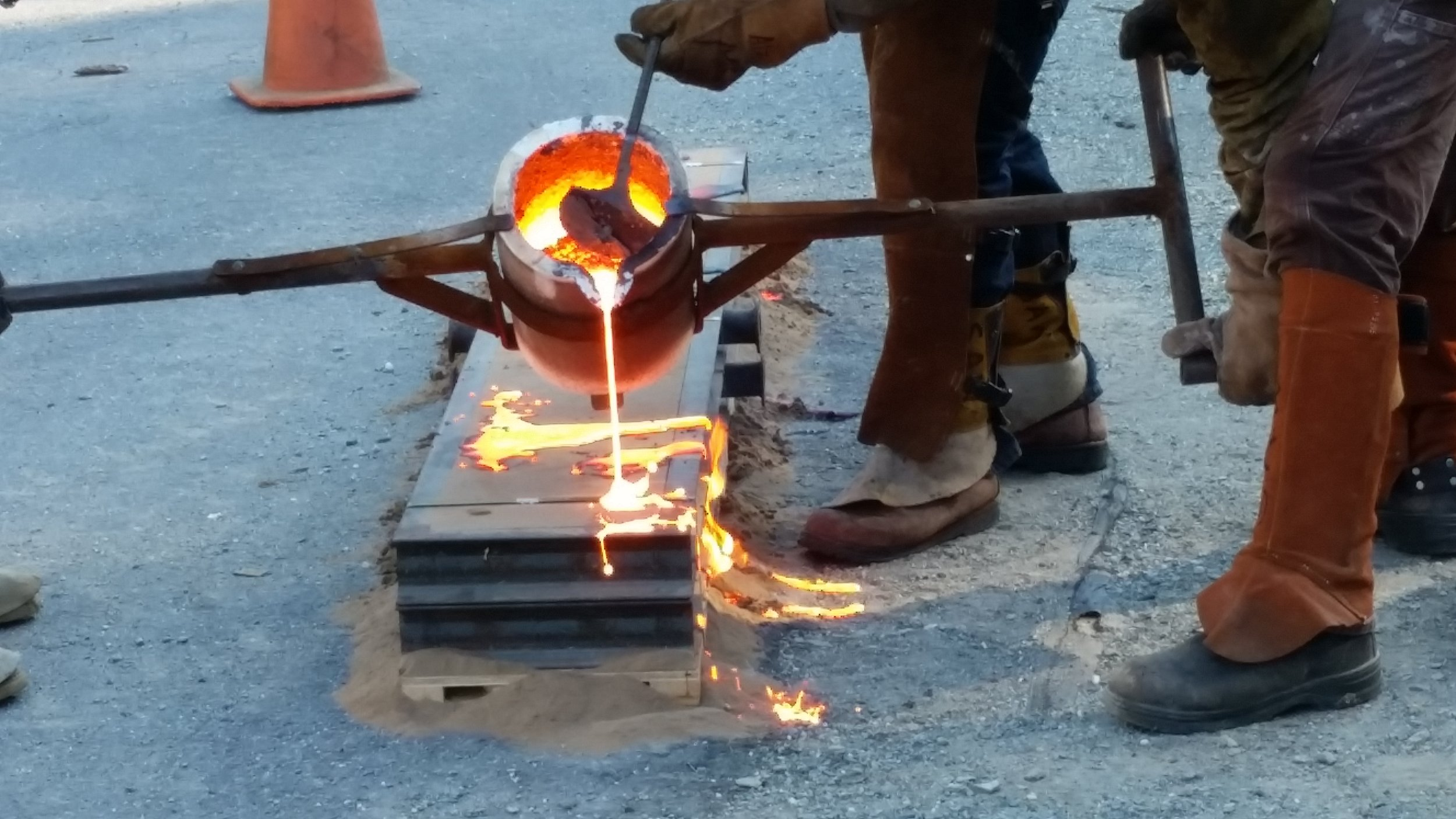 Iron pour at SAW