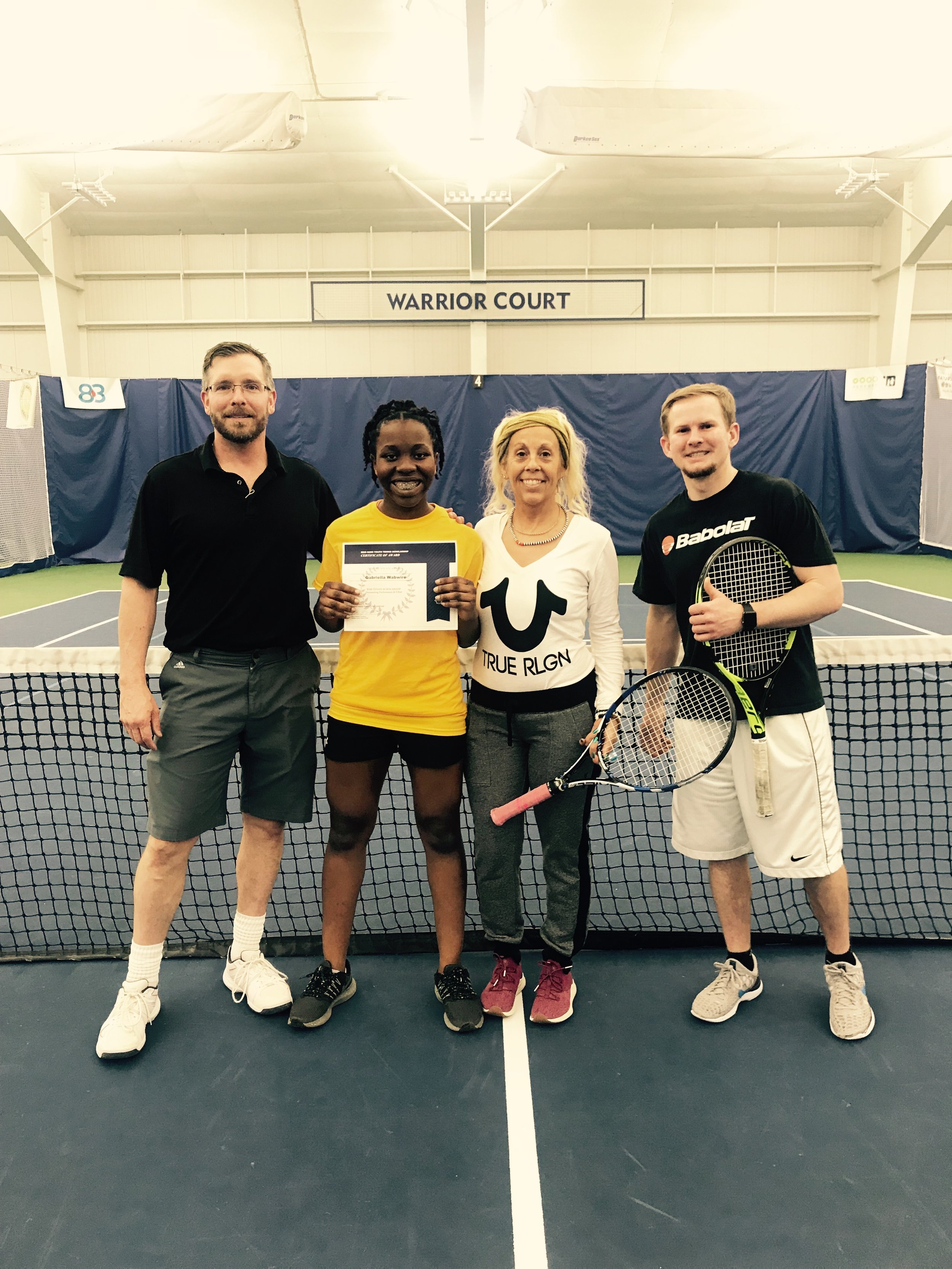 Gabriella Wabwire Recipient of the Spring/Summer 2019 Reid Hans Memorial Scholarship awarded by Huether Family Match Pointe and Anonymous Donor