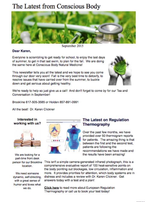 Fall Newsletter September 2015