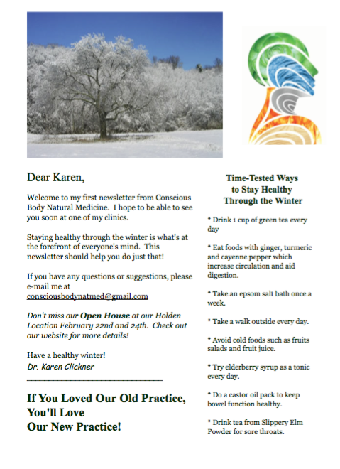 Conscious Body Debut Newsletter October 2014