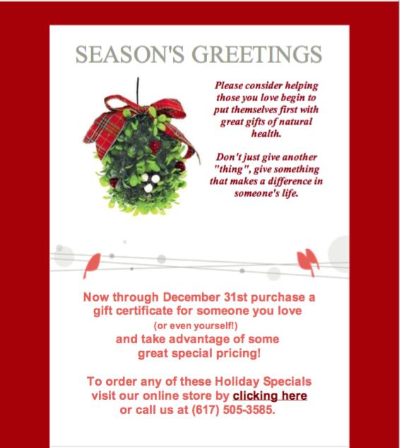 Holiday Specials December 2016