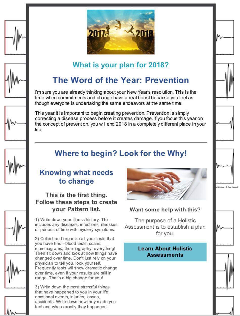 New Year Newsletter 2018