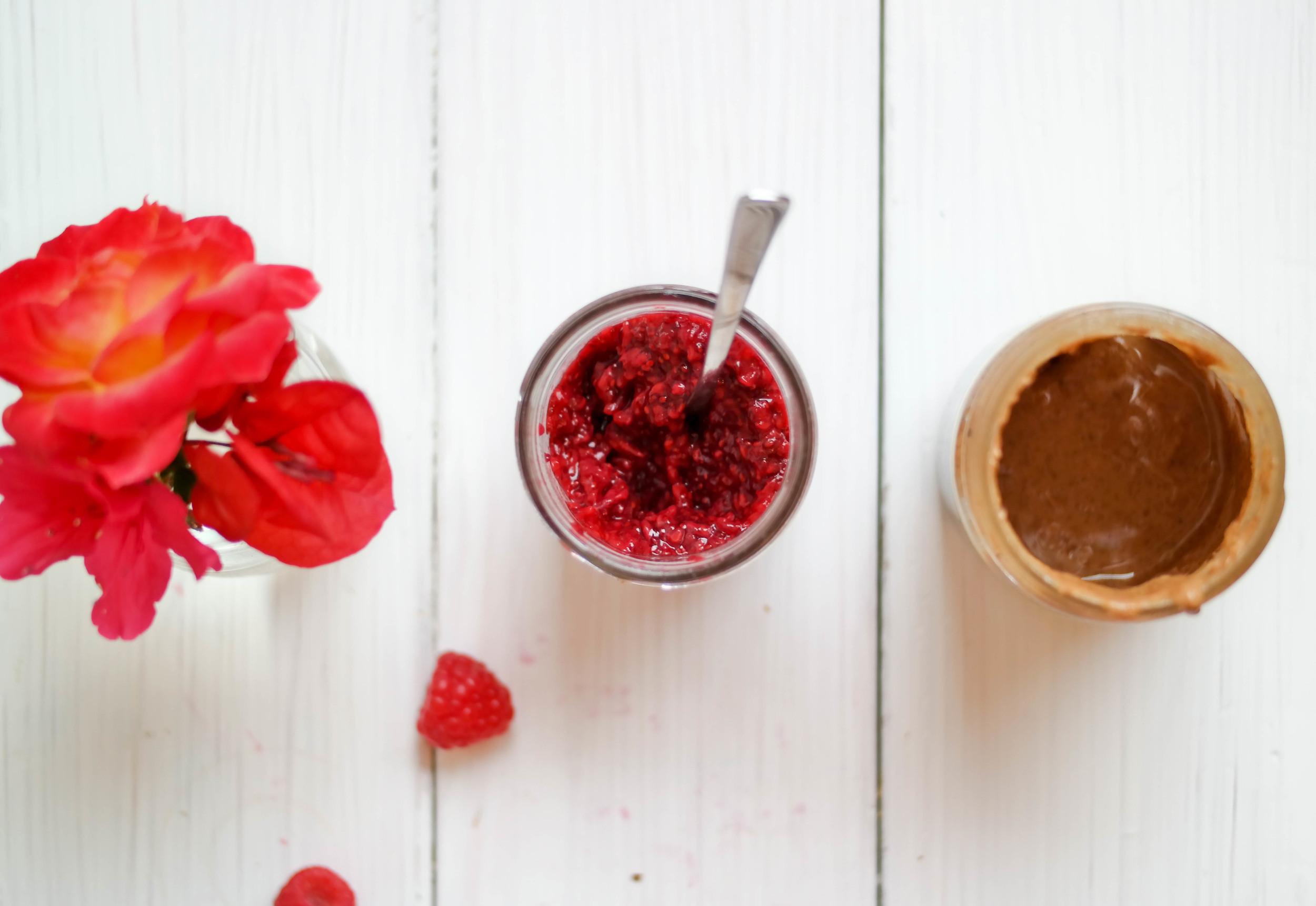 4-The-Best-Raspberry-Chia-Seed-Jam-On-Almond-Butter-Toast | www.8thandlake.com
