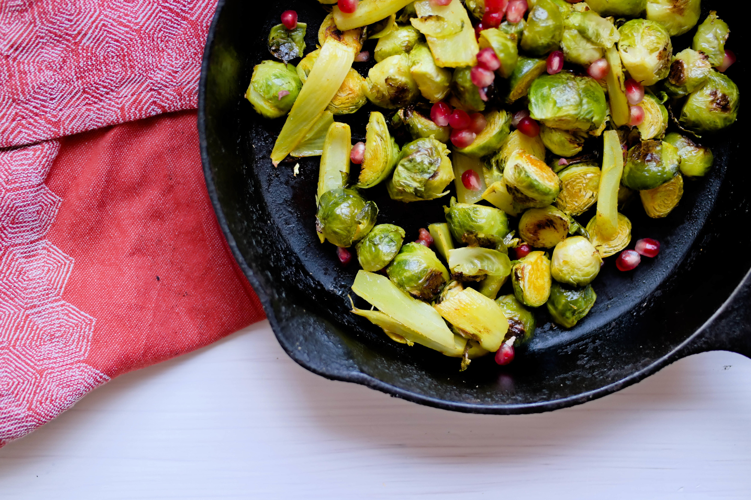 3-Thanksgiving-Ideas-Roasted-Brussel-Sprouts-with-fennel-and-pomegranate-seeds | www.8thandlake.com.jpg
