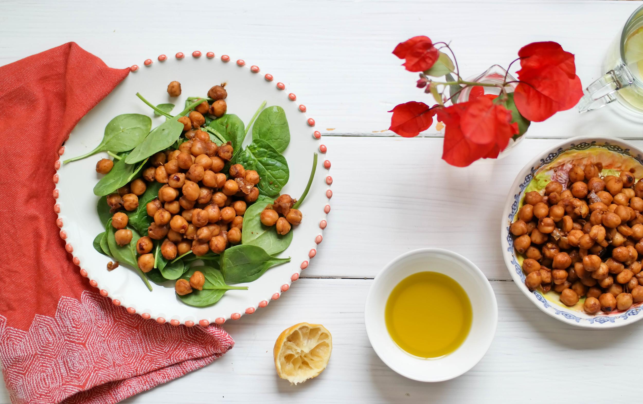 Chili-Infused-Chickpea-Salad | www.8thandlake.com