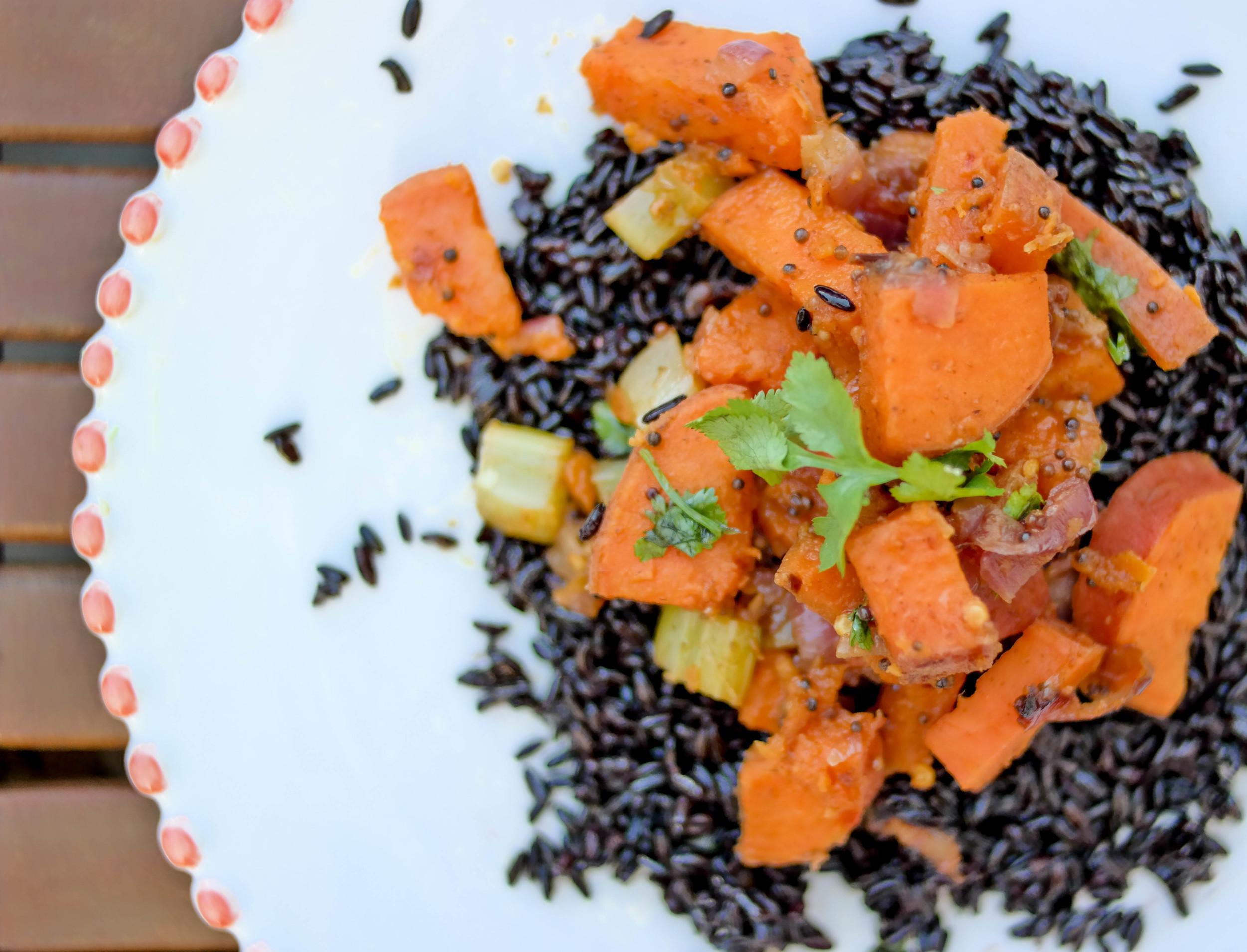 2-Spicy-Sweet-Potato-Bowl-with-Black-Rice | www.8thandlake.com