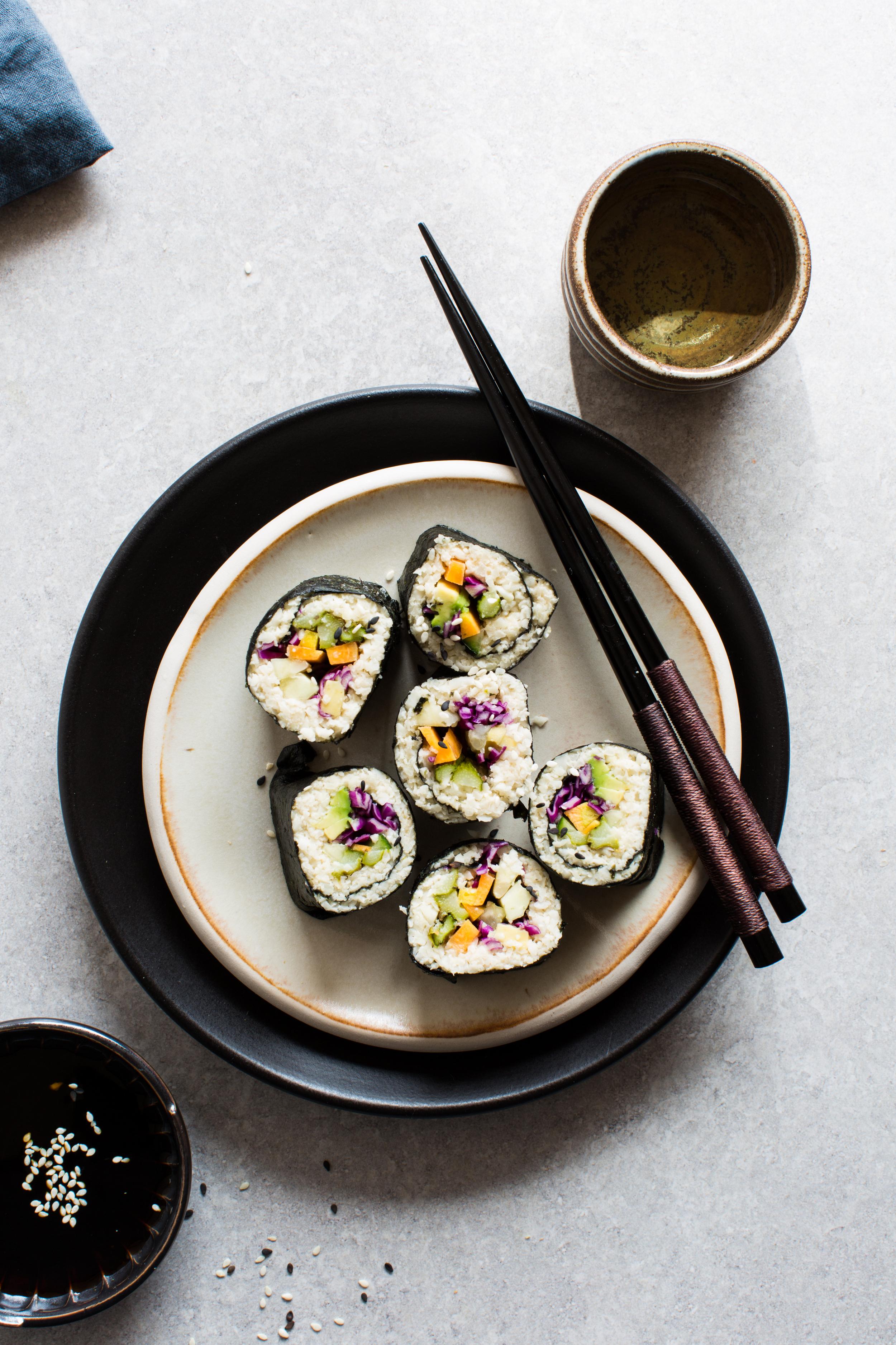Cauliflower-Rice-Sushi | www.8thandlake.com