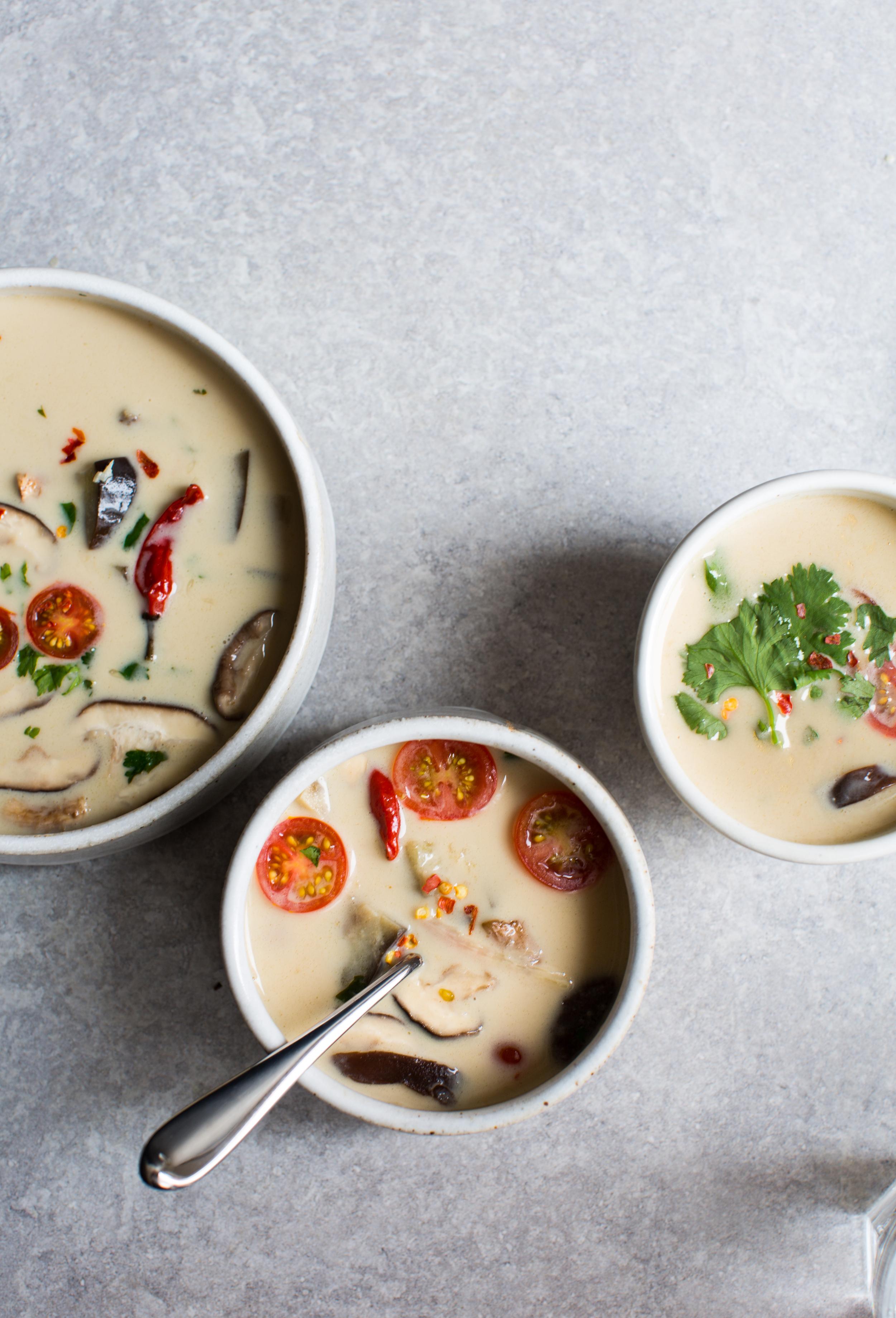 4-Thai-Style-Coconut-Soup -tom-kha | www.8thandlake.com