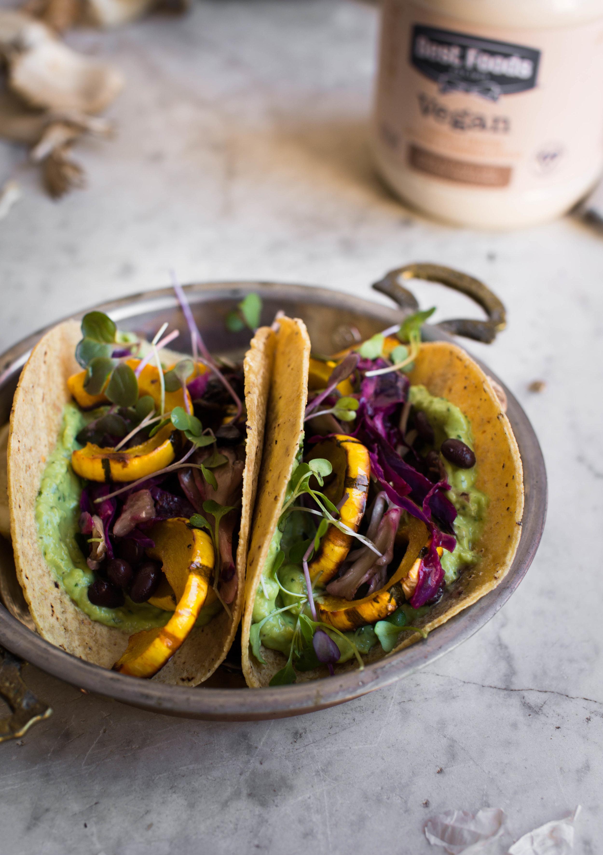 Fall-Breakfast-Tacos-with-Avocado-Cream-and-Squash | www.8thandlake.com