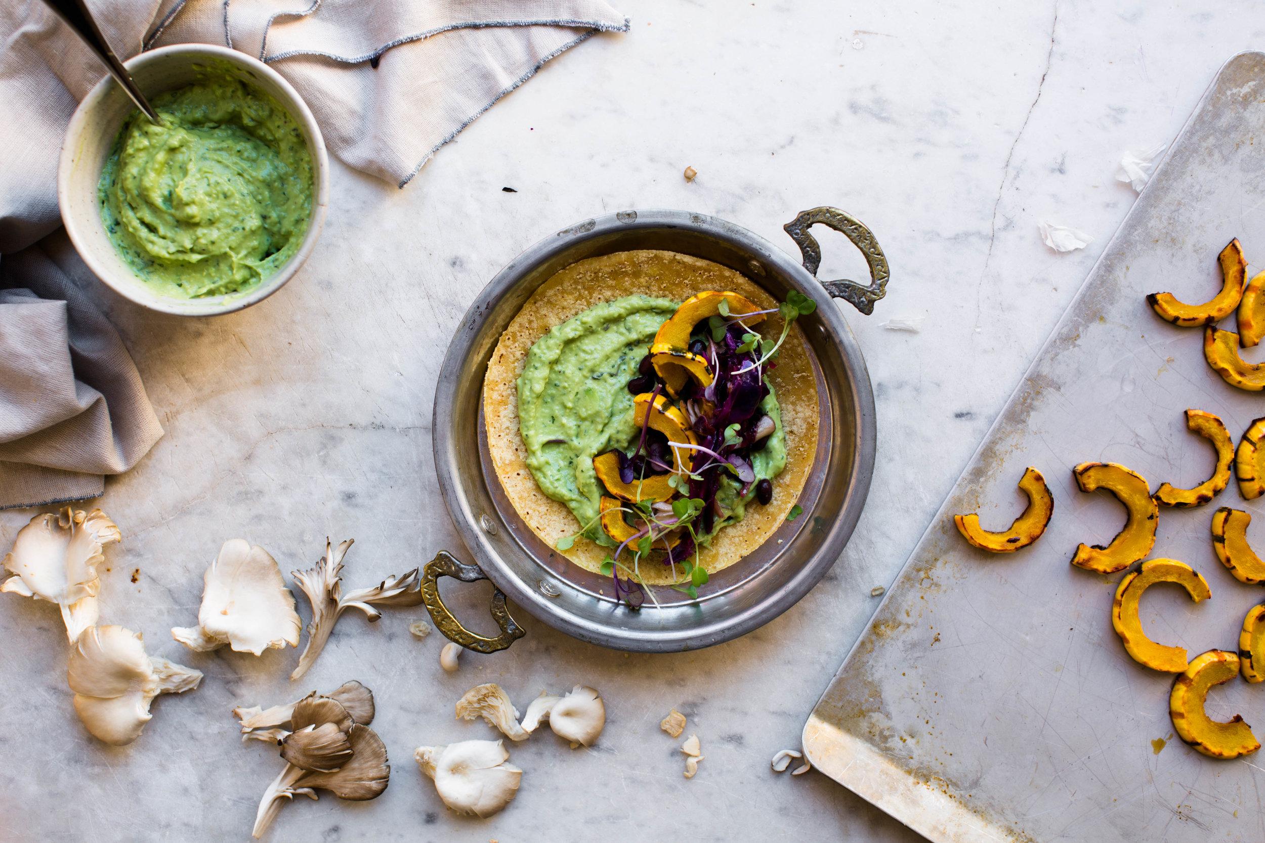 5-Fall-Breakfast-Tacos-with-Avocado-Cream-and-Squash | www.8thandlake.com