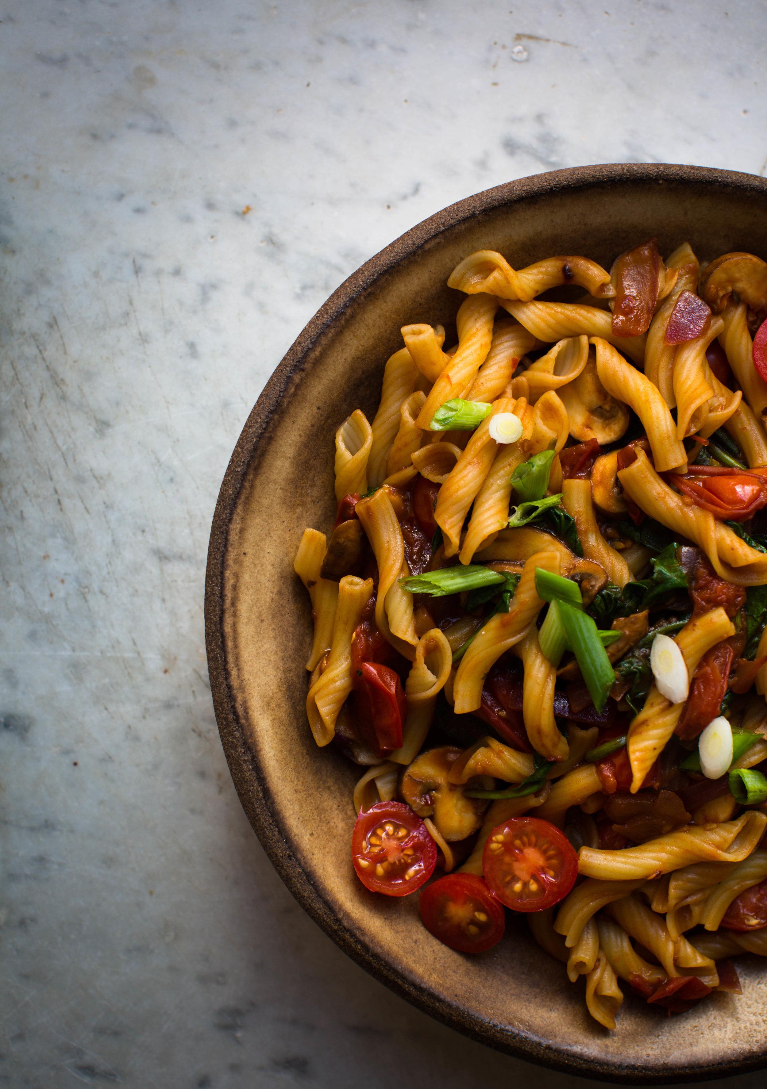 Asian-Style-Miso-and-Eggplant-Pasta | www.8thandlake.com
