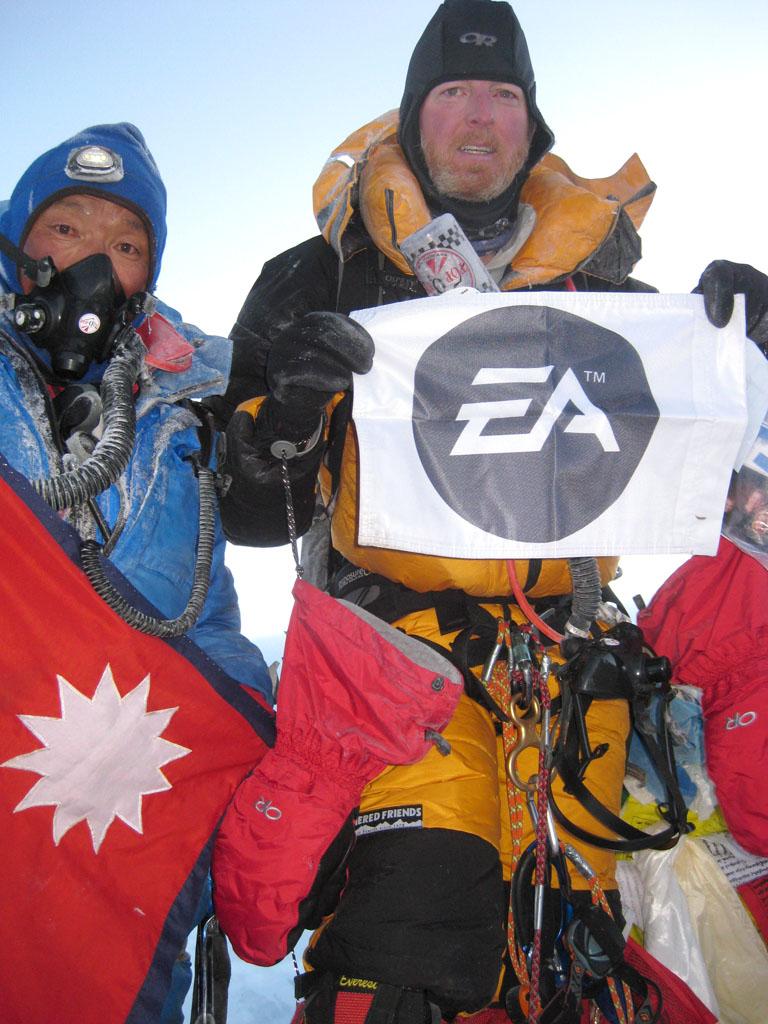 Vance atop Everest