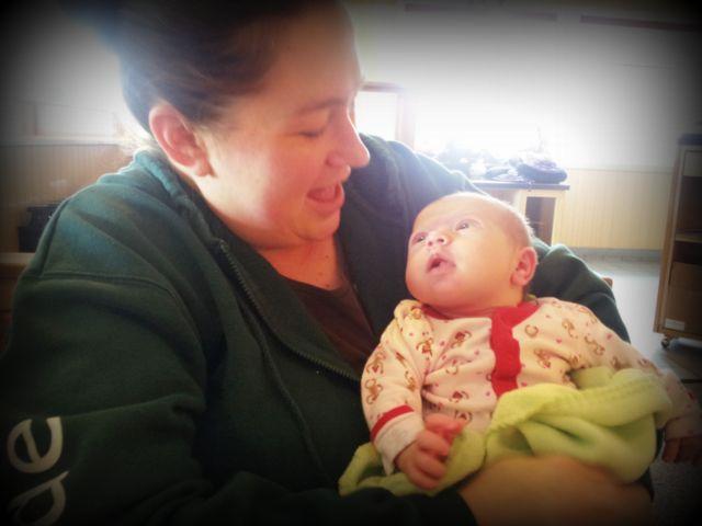 Friend Kim and baby Abby