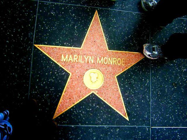 Sean at Marilyn's star!