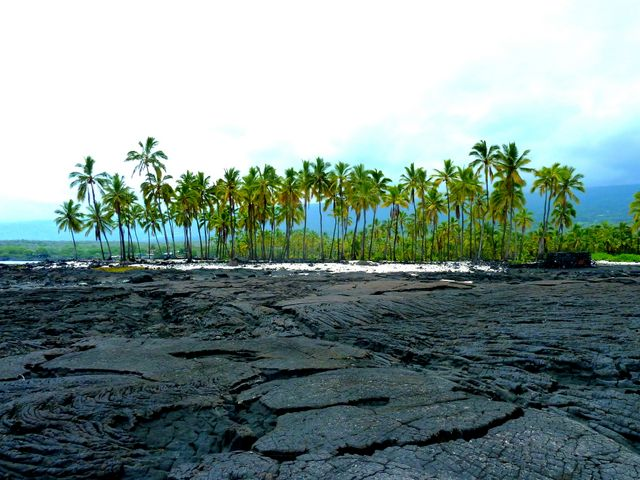 The newest Hawaiian island is mostly solid lava flow
