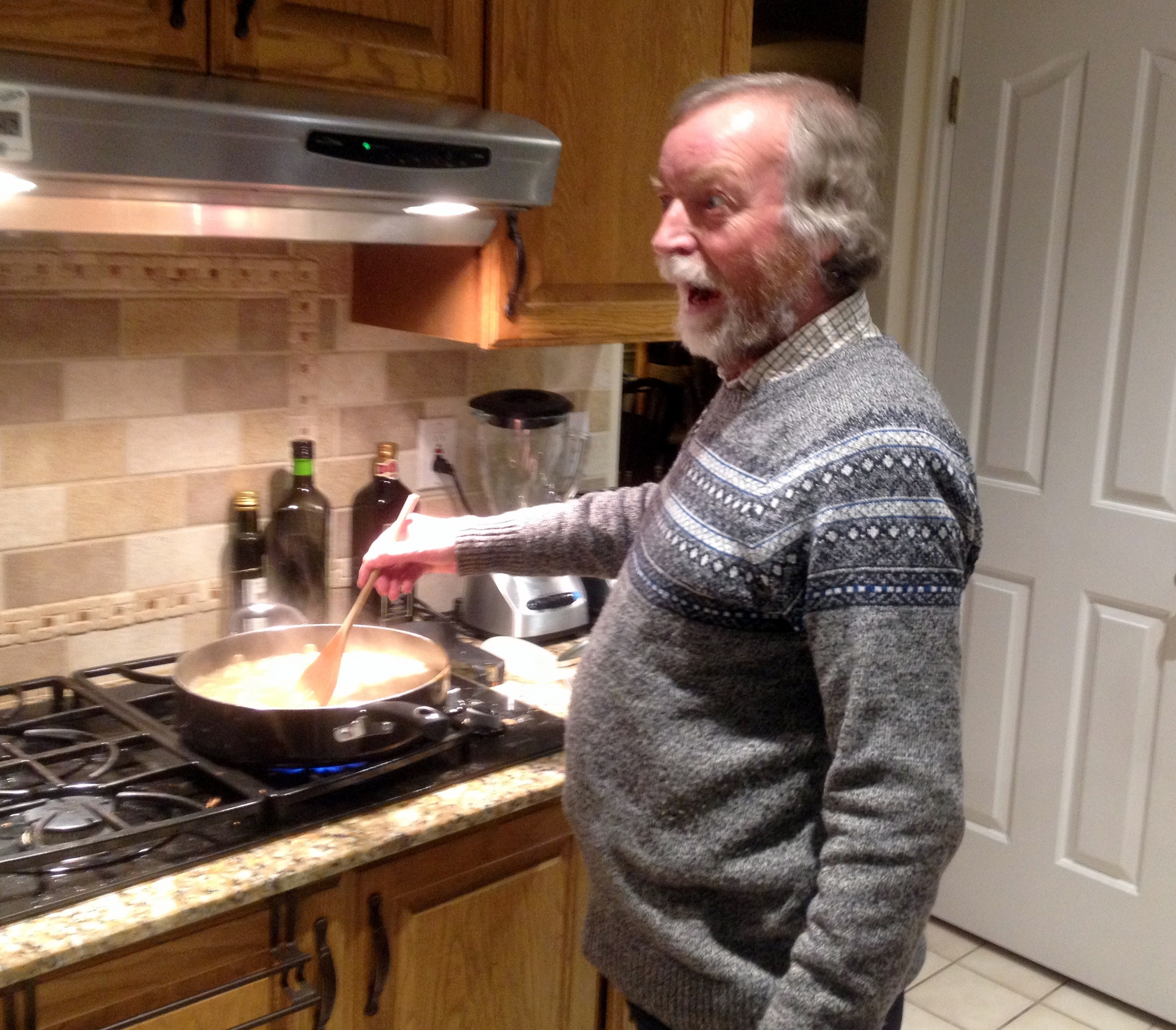 Chris always cooks a few nights for us when he stays.  Tonight was his famous Chicken Tikka!